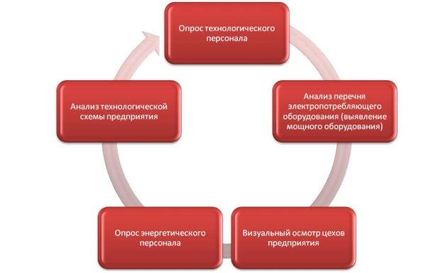 Рис 1. Энергетический аудит предприятия.