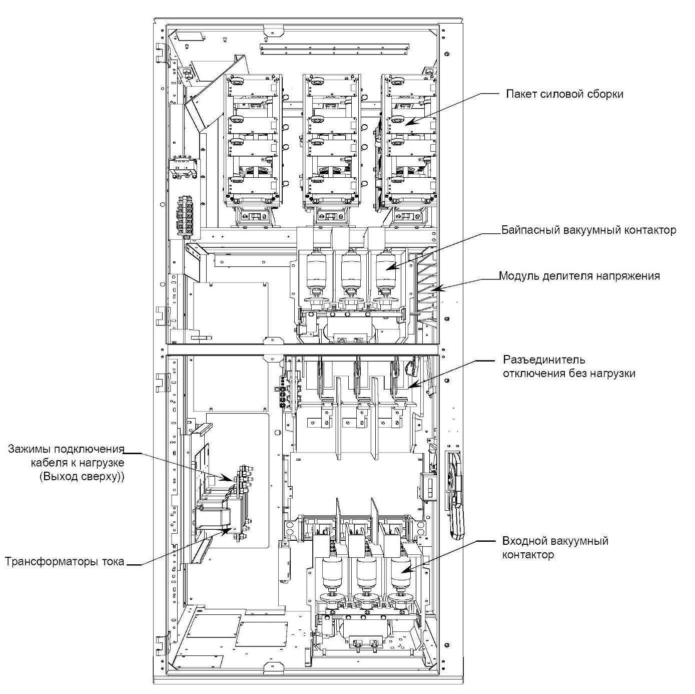 Рис 8. Схема высоковольтного устройства плавного пуска