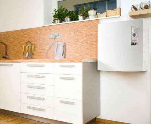 Рис №4. Электрический энергосберегающий котел в дизайне современной кухни