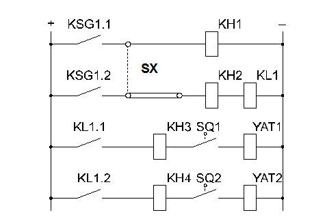 Рис №3. Принципиальная схема включения газового реле