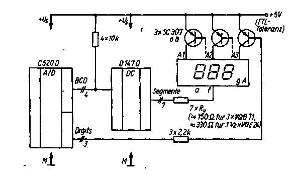 Рис. №2.Схема цифрового вольтметра