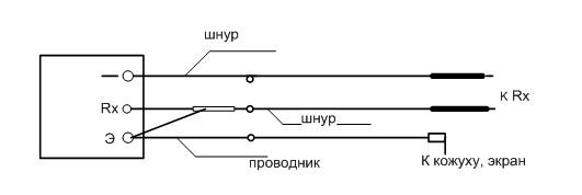 Рис №3. Схема присоединения мегаомметра