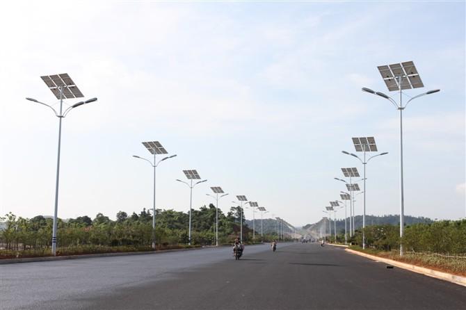 Рис №3. Система освещения на солнечных батареях
