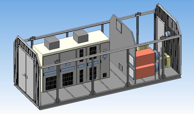Рис №1. Блок-модуль, комплексная станция частотного регулирования