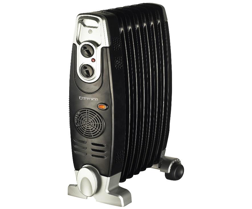 Рис №1. Масляный обогреватель элитного класса, имеющий в устройстве защиты от замерзания и перегрева, от опрокидывания, термостат, три ступени мощности, увлажнитель воздуха, сушилку для белья