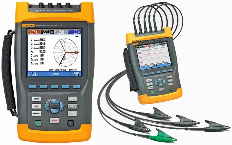 Рис №1. Прибор для анализа качества электрической энергии Fluke 434