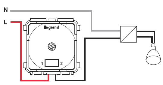 Рис №2. Схема подключения диммера