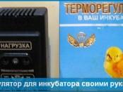 Терморегулятор для инкубатора своими руками