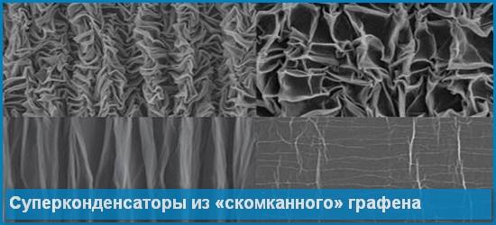 Гибкие суперконденсаторы из «скомканного» графена