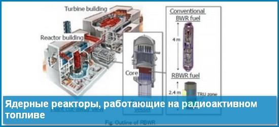 Ядерные реакторы на радиоактивном топливе