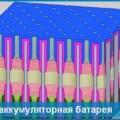 Миниатюрная аккумуляторная батарея, укомплектованная множеством крошечных нанобатарей