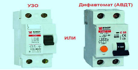 Рис. 1. УЗО или дифавтомат