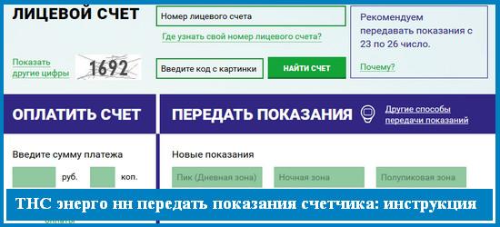 ТНС энерго нн (nn tns e ru): как передать показания счетчика