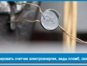 Как опломбировать счетчик электроэнергии, виды пломб, сколько стоит?
