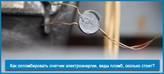 Как опломбировать счетчик электроэнергии?