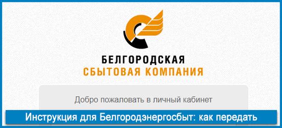Как передать показания счётчика для Белгородэнергосбыт?