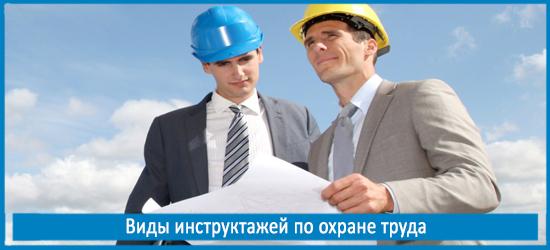 Виды инструктажей по охране труда: вводный, первичный, целевой и другие